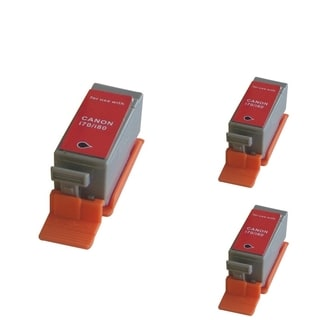 INSTEN Black Cartridge Set for Canon BCI-15Bk (Pack of 3)