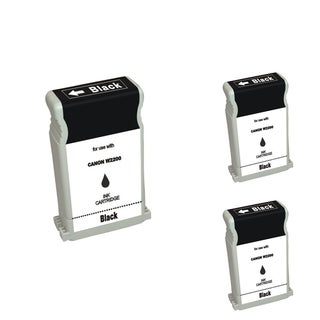 INSTEN Black Cartridge Set for Canon BCI-1302 (Pack of 3)