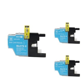 BasAcc Cyan Cartridge Set Compatible with Brother LC-71C (Pack of 3)