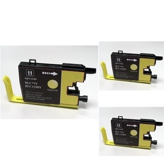 INSTEN Yellow Cartridge Set for Brother LC-79Y (Pack of 3)