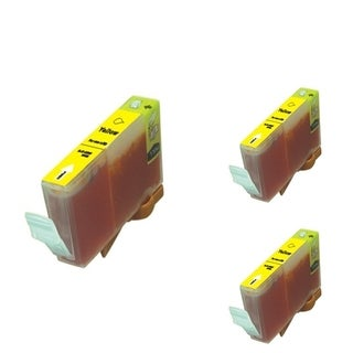 BasAcc Yellow Cartridge Set Compatible with Canon BCI-5/ 6 (Pack of 3)