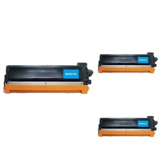 INSTEN Cyan Cartridge Set for Brother TN210 (Pack of 3)