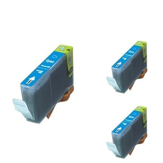 BasAcc Cyan Cartridge Set Compatible with Canon BCI-5/ 6C (Pack of 3)