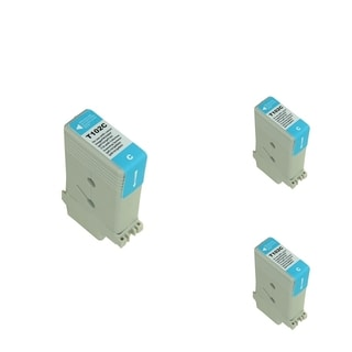 BasAcc Cyan Cartridge Set Compatible with Canon PFI102C (Pack of 3)