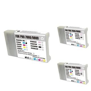 INSTEN Epson T6032C 220ml Cyan Cartridge Set (Remanufactured) (Pack of 3)