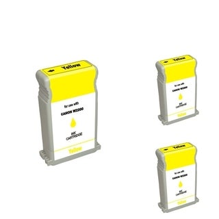 BasAcc Yellow Cartridge Set Compatible with Canon BCI-1302 (Pack of 3)