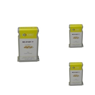 BasAcc Yellow Cartridge Set Compatible with Canon BCI-1401 (Pack of 3)