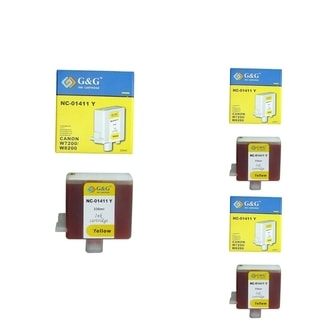 BasAcc Yellow Cartridge Set Compatible with Canon BCI-1411 (Pack of 3)