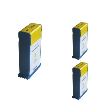BasAcc Yellow Cartridge Set Compatible with Canon BCI-1431 (Pack of 3)