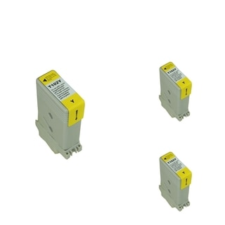 INSTEN Yellow Cartridge Set for Canon PFI102Y (Pack of 3)