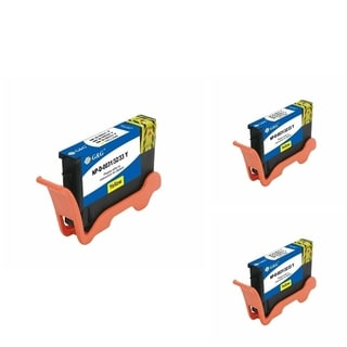 BasAcc Yellow Cartridge Set Compatible with Dell 31/ 32 (Pack of 3)