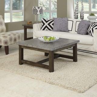 Concrete Chic Square Coffee Table