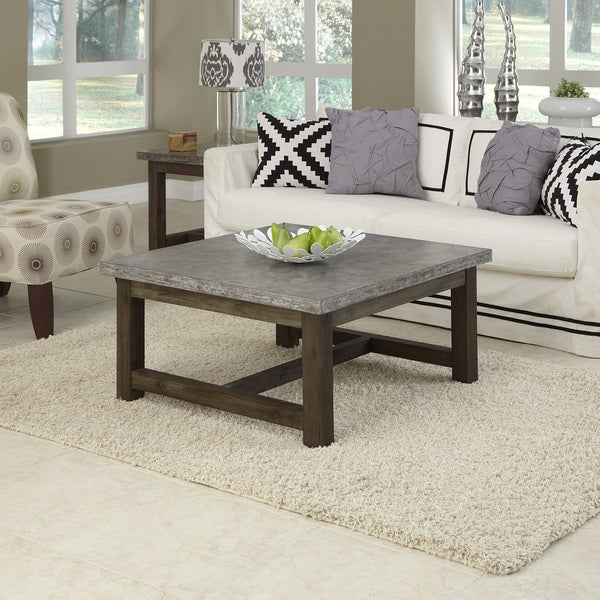 Home Styles Concrete Chic Square Coffee Table