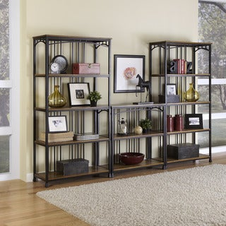 Modern Craftsman 3-piece Multi-Function Shelving Unit