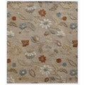 Hand-Tufted Beige/ Brown Wool Rug (8x10)