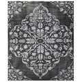 Hand-Knotted Blue Wool/ Art Silk Rug (2X3)