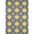 Hand-tufted Tatum Charcoal/ Gold Wool Rug (5'0 x 7'6)