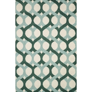 Hand-tufted Tatum Blue/ Green Wool Rug (7'9 x 9'9)