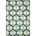 Hand-tufted Tatum Blue/ Green Wool Rug (5'0 x 7'6)