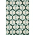 Hand-tufted Tatum Blue/ Green Wool Rug (5'0 x 7'6)