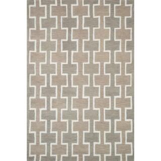 Hand-tufted Tatum Beige Wool Rug (7'9 x 9'9)