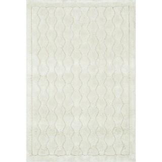 Plush Ivory Shag Rug (2'2 x 3'9)