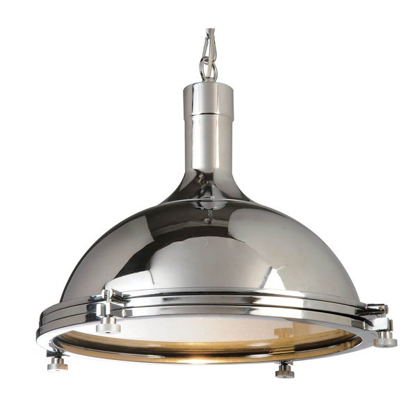 Chrome 1-light Ceiling Lamp