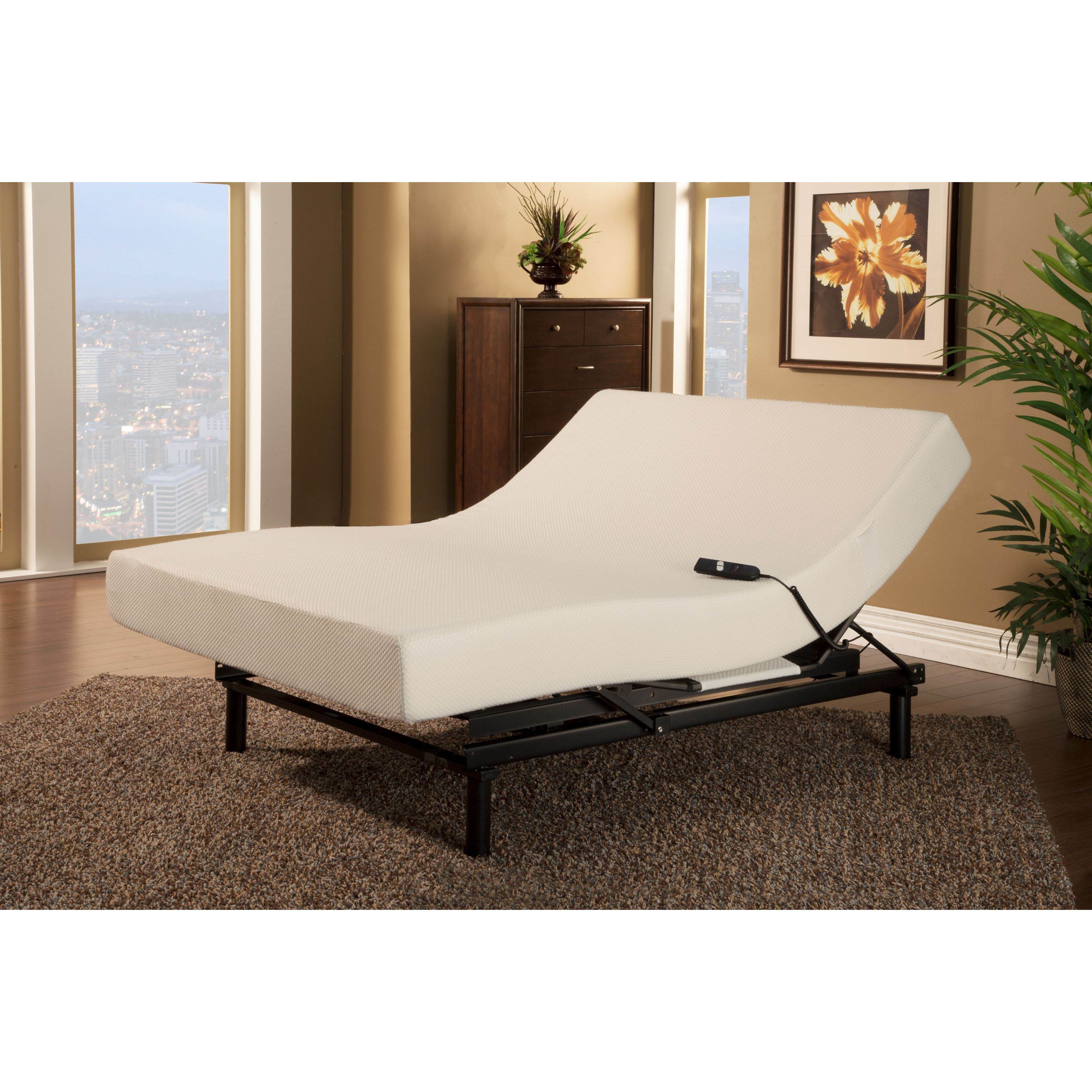Sleep Zone Loft Single Motor Adjustable Bed with Queen-size Visco Memory Foam Mattress at Sears.com
