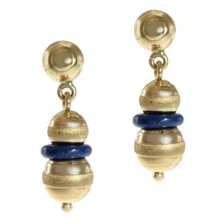 Michael Valitutti 14k Yellow Gold Lapis Earrings