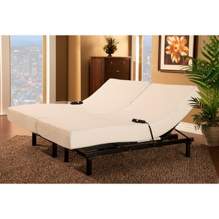 Sleep Zone Loft Single Motor Adjustable Bed with Split King-size Visco Memory Foam Mattress