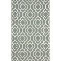 nuLOOM Handmade Wool Diamond Trellis Grey Rug (7'6 x 9'6)