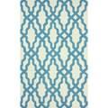 nuLOOM Handmade Wool Moroccan Trellis Blue Rug (5' x 8')
