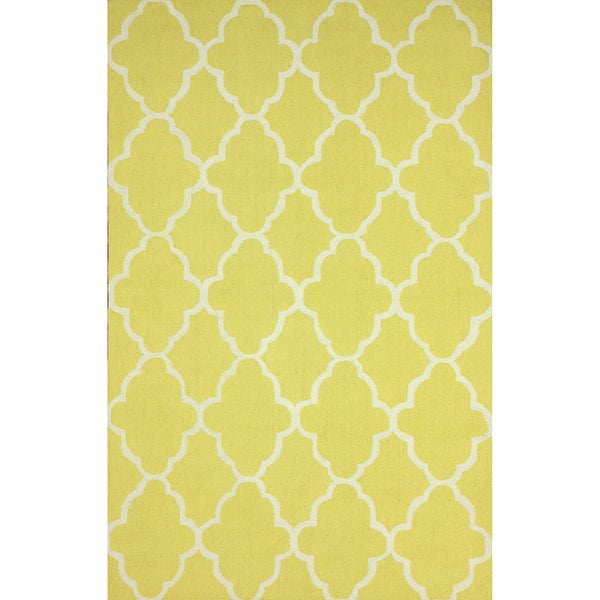 NuLOOM Handmade Wool Moroccan Trellis Yellow Rug (7'6 X 9