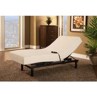 Sleep Zone Loft Single Motor Adjustable Bed with Twin XL-size Visco Memory Foam Mattress