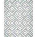 Safavieh Handmade Moroccan Chatham Squares-pattern Blue/ Ivory Wool Rug (8' x 10')