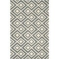 Safavieh Handmade Moroccan Chatham Dark Gray/ Ivory Wool Rug with 0.5-Inch Pile (4' x 6')