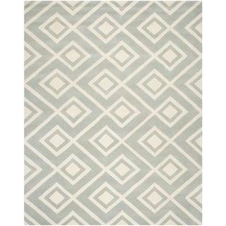 Durable Safavieh Handmade Moroccan Chatham Gray/ Ivory Wool Rug (8' x 10')