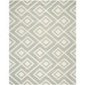 Safavieh Handmade Moroccan Chatham Contemporary Grey/ Ivory Wool Rug (9' x 12')
