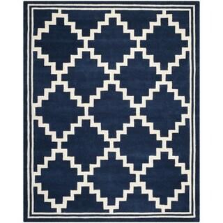 Safavieh Handmade Moroccan Chatham Navy/ Ivory Wool Rug (8' x 10')