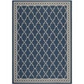 Safavieh Contemporary Indoor/ Outdoor Courtyard Navy/ Beige Area Rug (2'7 x 5')