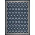Safavieh Indoor/ Outdoor Courtyard Navy/ Beige Power-loomed Rug (8' x 11')