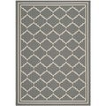 Safavieh Indoor/ Outdoor Courtyard Gray/ Beige Area Rug (2'7 x 5')