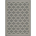 Safavieh Indoor/ Outdoor Courtyard Grey/ Beige Rug (2'7 x 5')