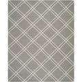 Contemporary Safavieh Handwoven Moroccan Dhurrie Gray/ Ivory Wool Rug (5' x 8')