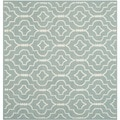 Safavieh Light Blue/ Ivory Handwoven Moroccan Dhurrie Geometric Wool Rug (6' Square)