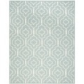 Safavieh Contemporary Handwoven Moroccan Dhurrie Light Blue/ Ivory Wool Rug (8' x 10')