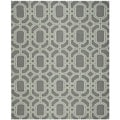 Safavieh Hand-woven Moroccan Dhurrie Grey/ Light Blue Wool Rug (8' x 10')
