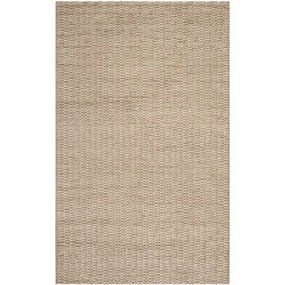 Safavieh Hand-woven Manhattan Beige/ Brown Polyester Rug (8' x 10')