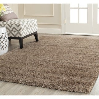 Soft Cozy Solid Cream Indoor Shag Area Rug 8 X 10