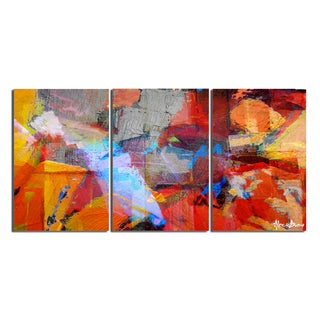 Alexis Bueno 'Abstract' Gallery-wrapped Canvas Wall Art (Set of 3)